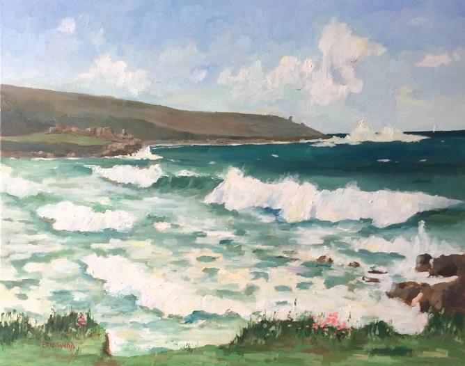 Heavy surf at Porhmeor Beach St Ives