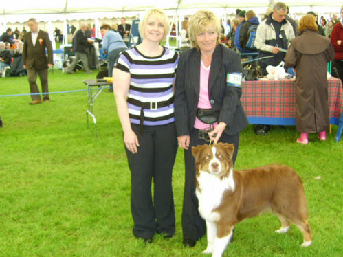 ROBBIE MORAG & JUDGE JAYNE HOLLIGAN AT SKC CHAMP SHOW 17TH MAY 2008