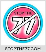 Logo for Stop the 77 - to teach children to stay safe around the dogs they love