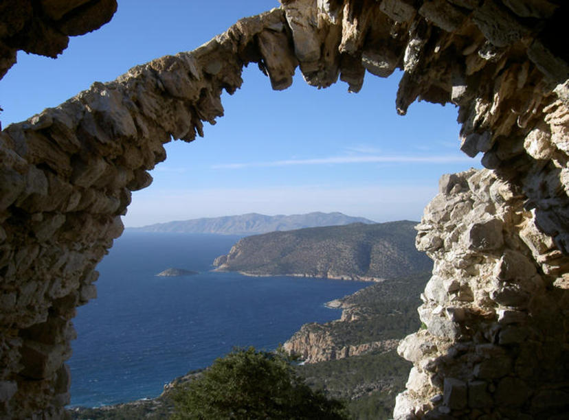 Monolithos Castle- views from the top