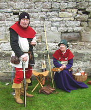 Guests for the day - Roger and Rosemary, well known re-enactors