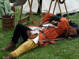 Master Tim takes a post-prandial nap!