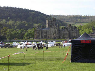 A view across the park on the first evening-only a fraction of the camp.