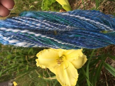 Soft bunny fluff yarn, Koolaid dyed