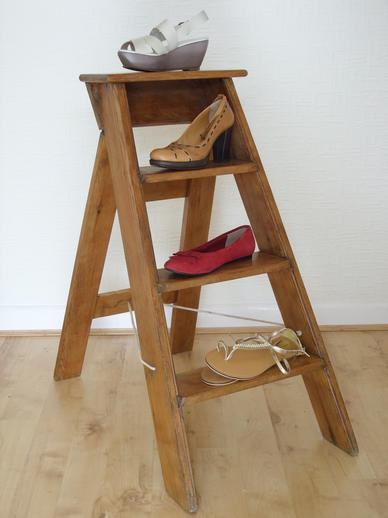 old wooden step ladders  2