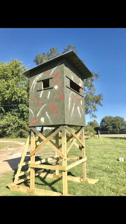 Awesome Shooting House On Skids Are The Way To Go. Easy To Load And Easy To Move.  If You Want To Be Taller Jusk Ask I Can Make It Any Height You Want ...