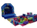 Bouncy castle and play area