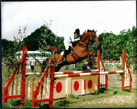 Jarva in Foxhunter at Blue Barn
