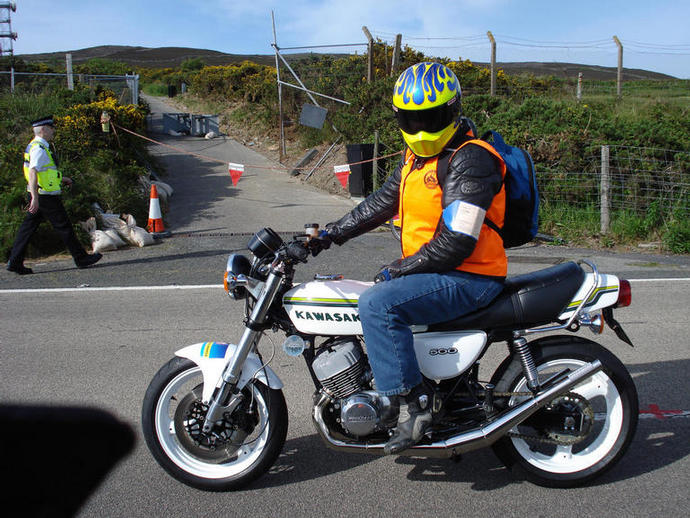 My own S3 /H1 special on duty at the Isle of Man TT races this year ('08)