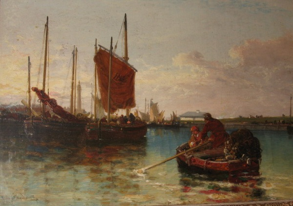 Continental harbour scene