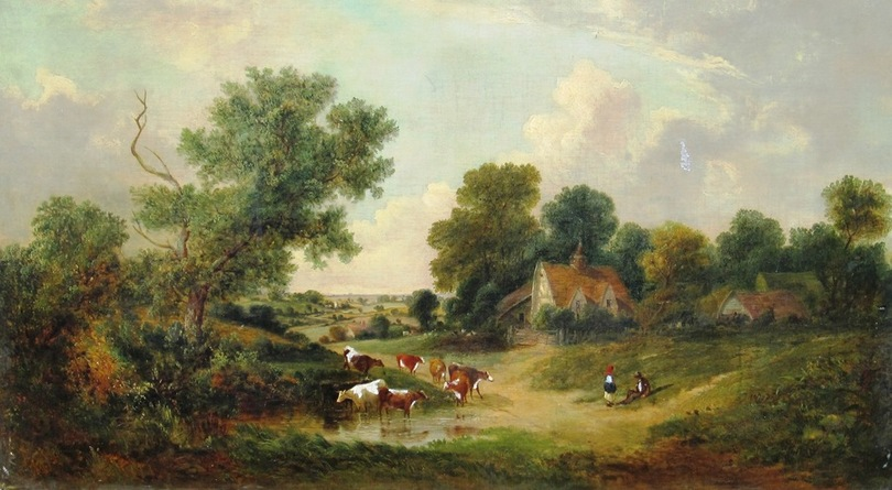 William Meadows 1851 landscape