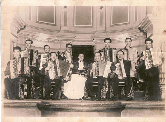 Jack Meadows with the band