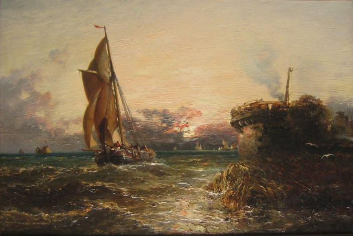 Off the Dutch coast, evening, 1894