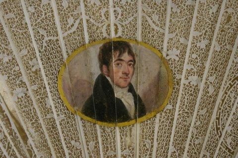 Richard Johnson fan portrait
