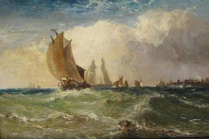 Rough weather off the French coast, 1891