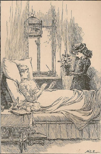 An illustration by Mary Ellen Edwards from Mrs Molesworth's, 'The Story of a Spring Morning', 1890