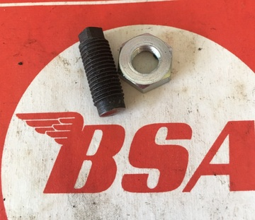 BSA  Tappet adjuster and nut