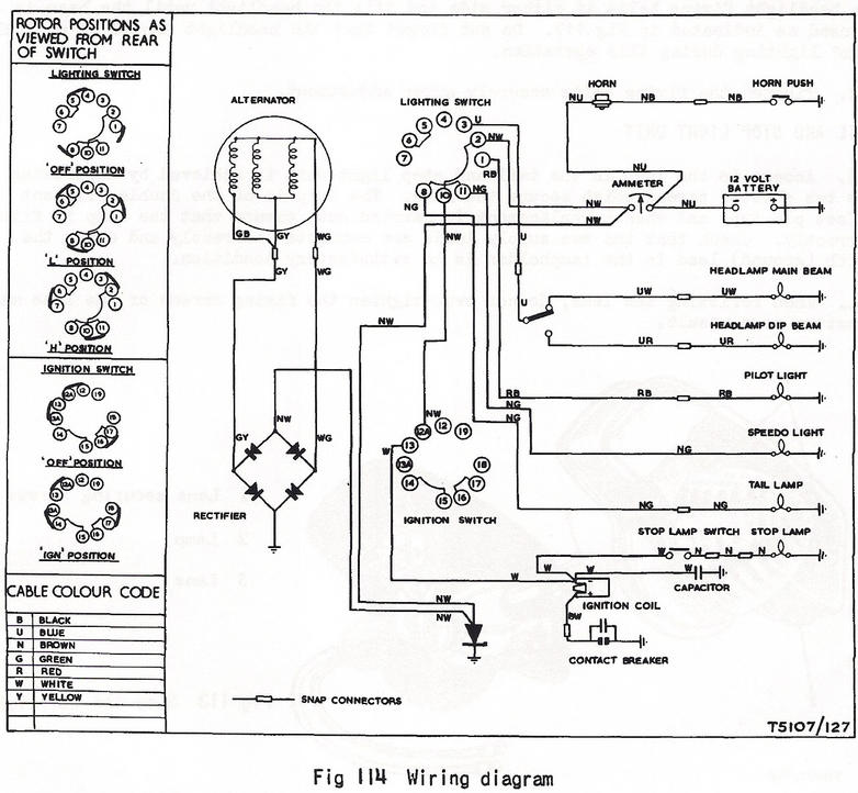wiring diagram bsa b40 electric help a short circuit somewhere! britbike forum 3 Wire Alternator Wiring Diagram at couponss.co