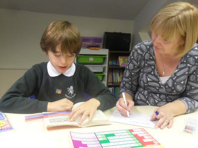 A multi sensory dyslexia session