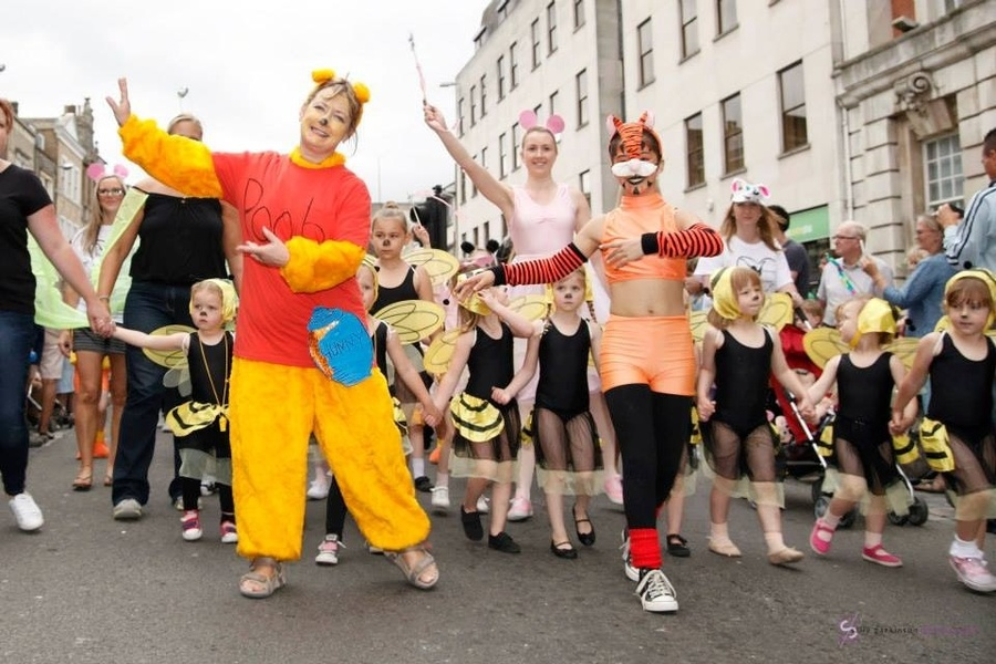 "The Valentine school of Dance ""cartoon animals"" at Colchester Carnival  2013"