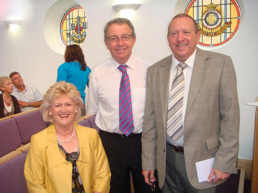 Photo Of Donald Blair, Organist, Jennifer Wallace, Praise Leader And Chris Wallace, Treasurer.