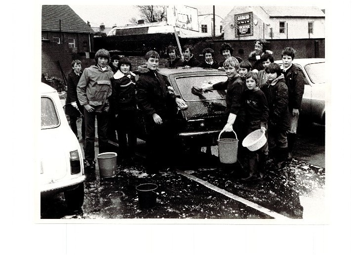 The BB raising funds with a car wash