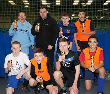 Boys and Girls Clubs of Greater Manchester U/14's 5-a-side winners 2012