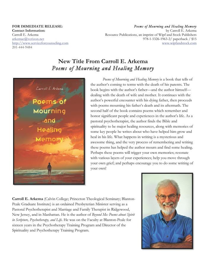Cover and description of book