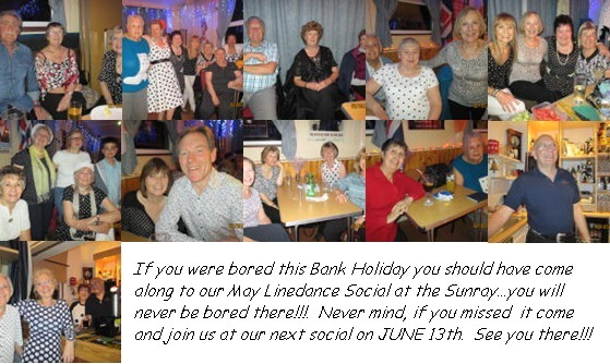 Photo's from May Linedance Social at the Sunray