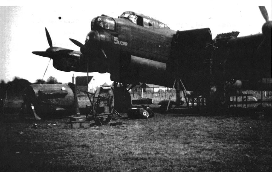 Lancaster bomber for repair
