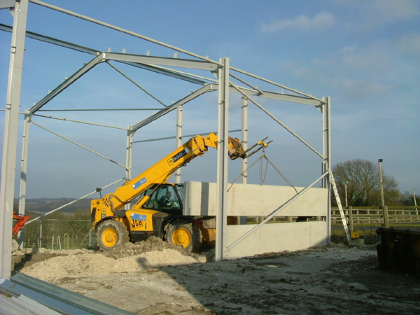 Construction of Sarness Farm Grain Store