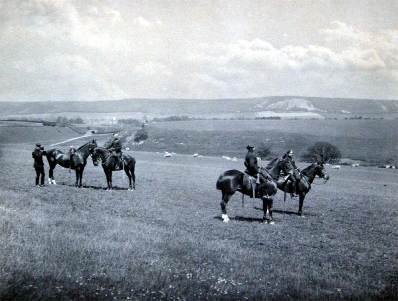 Exercises on horseback with East Kent Mounted Rifles