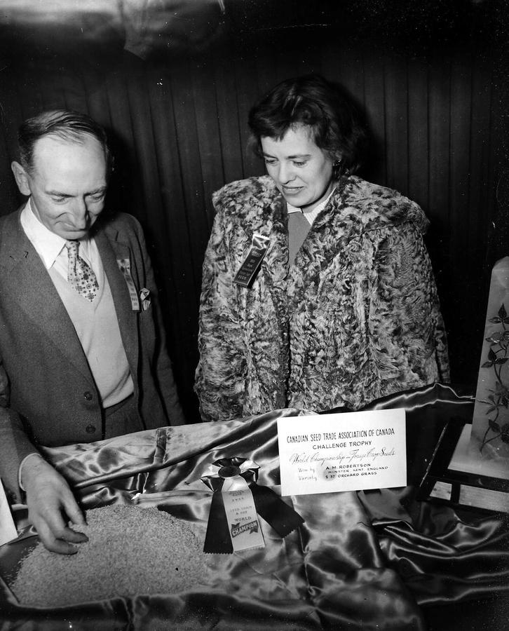Alex and Hilda Robertson, Toronto 1956