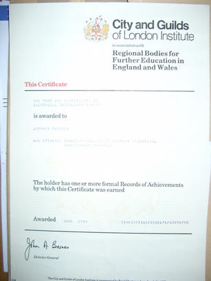 electrical qualification certificate