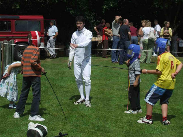 Fencing at the fete
