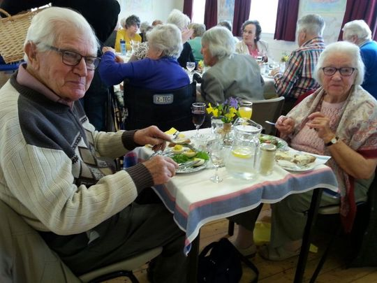Mr and Mrs Beavoir, Mr Beavoir celebrated his 91st birthday at the lunch.