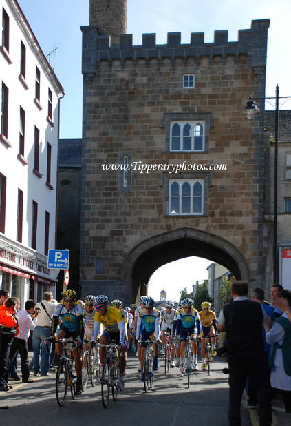 Lance Armstrong & Russell Downing at the West Gate Clonmel Tipperary