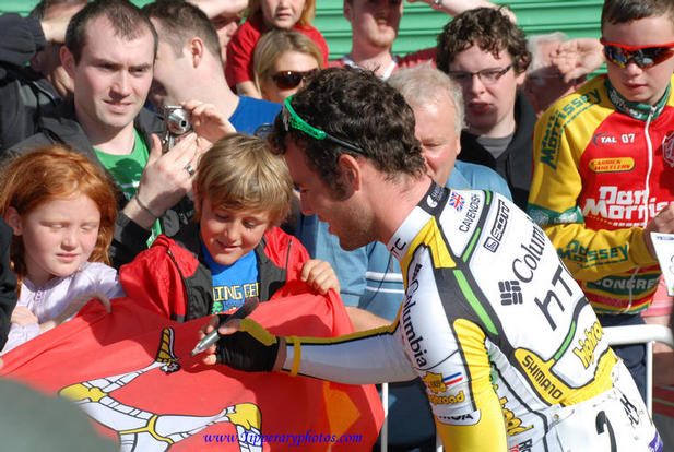 Mark Cavendish Team Columbia HTC in Clonmel Co Tipperary