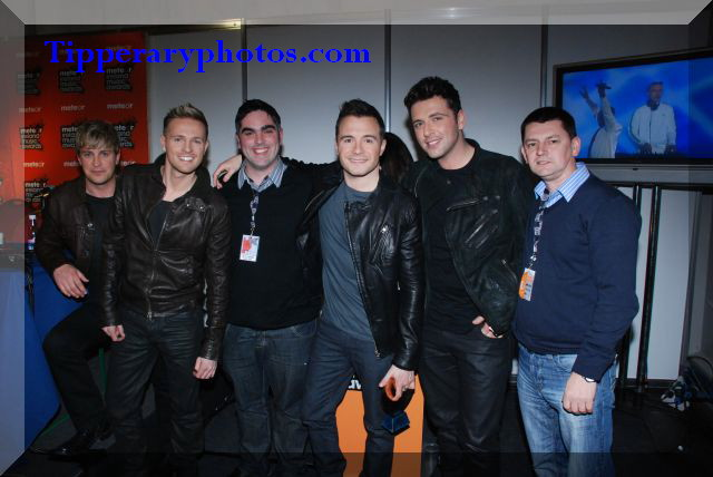 Westlife  with Ian O`Connor, Tipp FM and Jonathan Ryan Tipp FM & Tipperaryphotos.com