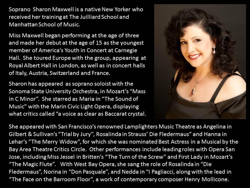Sharon Maxwell bio Opera Bravura