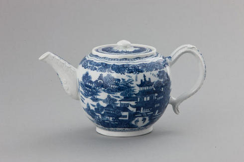 A teapot printed with the Conversation pattern