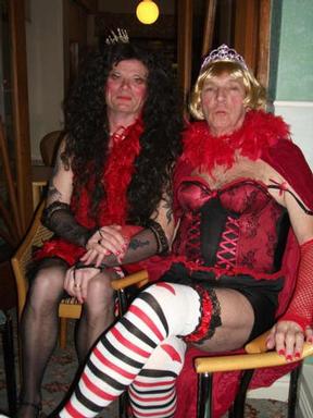 Chris & Terry (in fancy dress?)