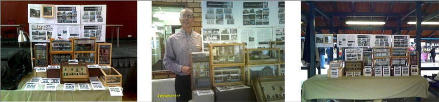 My model displays - and the modelmaker himself