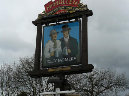 The Jolly Farmers sign