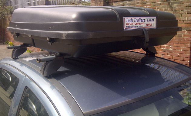 CAR TOP BOX FOR HIRE AT  www.tedstrailers.co.uk Liverpool