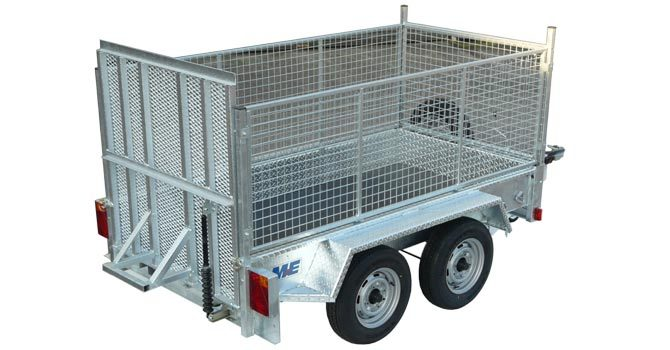 meredith and eyre twin wheel plant caged trailer