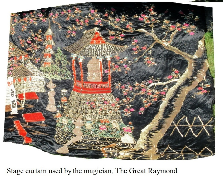 Stage backdrop used by the magician, The Great Raymond