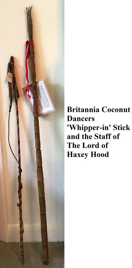 Lord of Haxey Hood Staff and Britannia Coconut Dancers Whipper-in stick