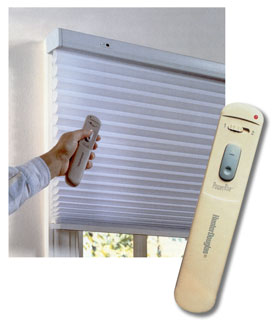 Hunter douglas blinds silhouette powerrise remote control for Motorized blinds remote control