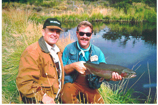 """Robert Duvall and Mark Daly Filming """"ESPN""""S FLY FISHING THE WORLD"""""""